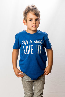 T-Shirt Boys 'Life is short - Live it!'