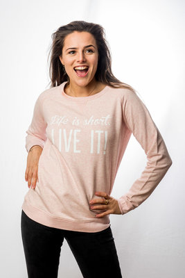 Sweater Women 'Life is short - Live It!'