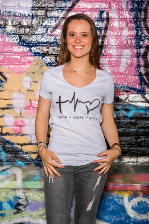 T-Shirt Women 'Faith Hope Love'