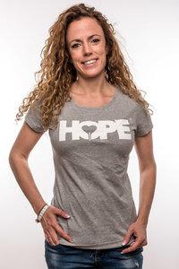 T-shirt Women 'HOPE'; grijs